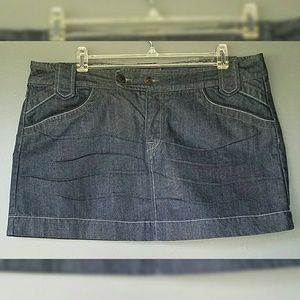 Hot Kiss Skirts - Hot Kiss Mini Jean Skirt Dark Wash
